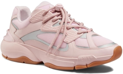 Pale Pink Dior Sneakers With Locking Laces Worn By Offset