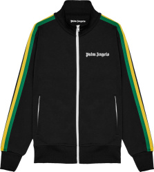 Palm Angels Black And Rasta Stripe Track Jacket