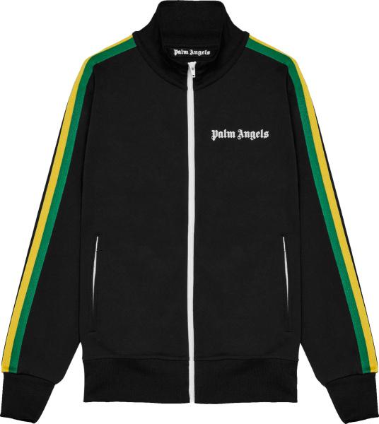 Palm Angels Black And Rasta Stripe Track Jacket
