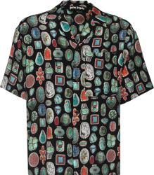 Palm Angels Jewel Print Bowling Shirt
