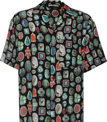 Palm Angels Jewel Print Bowling Shirt
