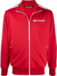 Red & White-Stripe Track Jacket