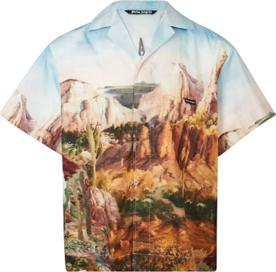 Palm Angels Western Print Bowling Shirt
