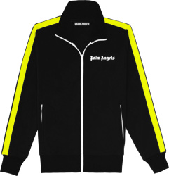 Palm Angels Black And Neon Yellow Track Jacket