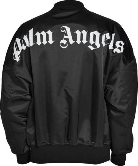 Palm Angels Black Bomber Jacket