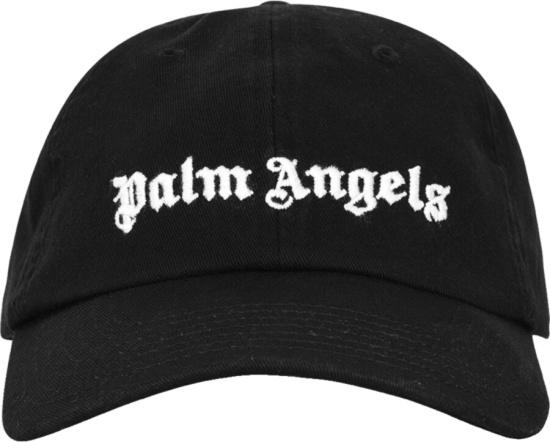 Palm Angels Black Classic Logo Hat