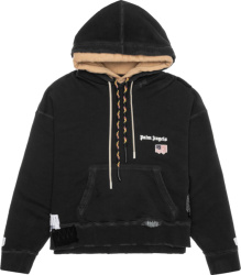 Palm Angels Black Double Layer Hoodie