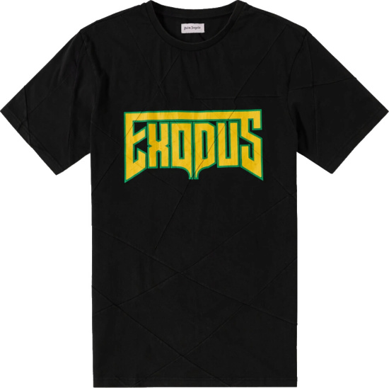 Palm Angels Black Exodus Print Shirt