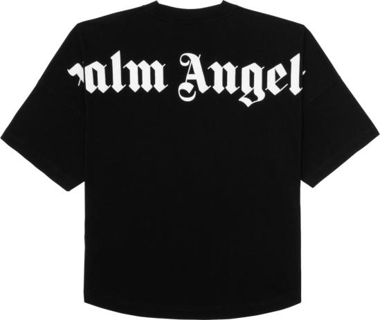 Palm Angels Black Shoulder Logo Print T Shirt