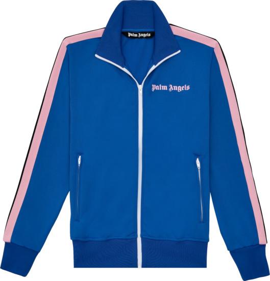 Palm Angels Blue Pink Track Jacket