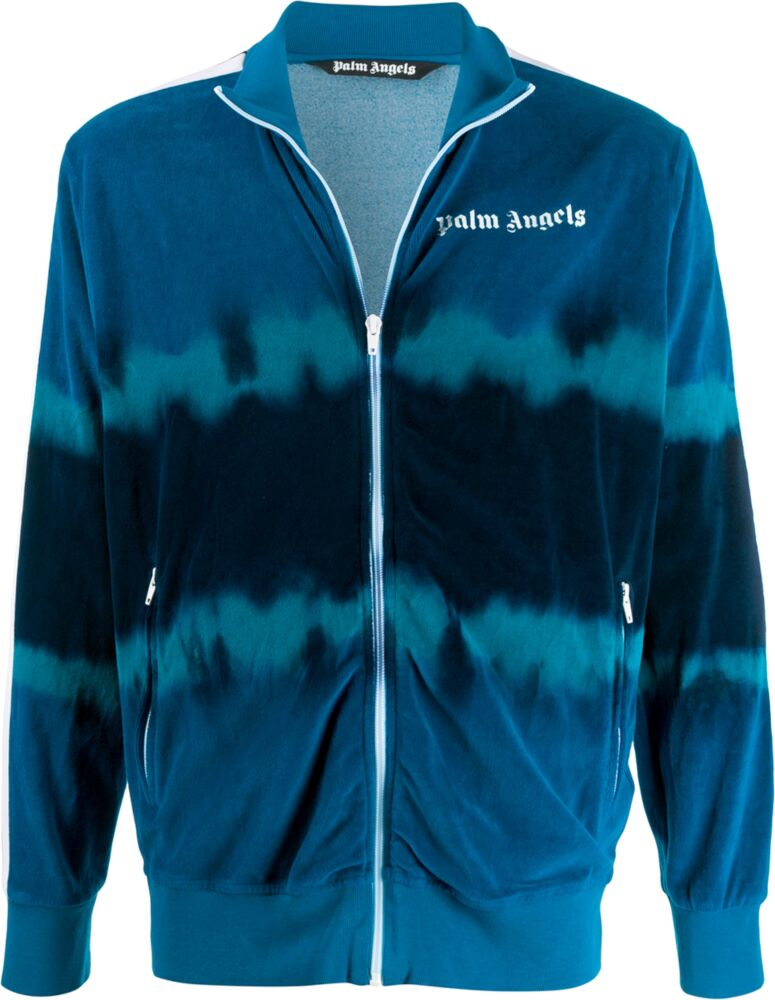 Palm Angels Blue Tie Dye Track Jacket
