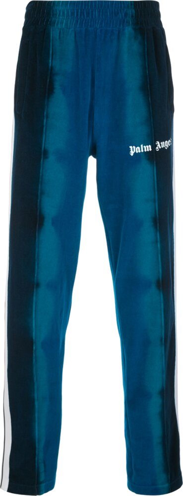Palm Angels Blue Tie Dye Trackpants