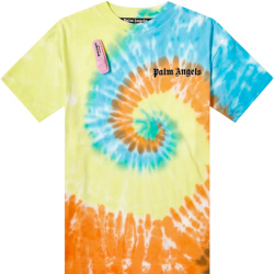 Palm Angels Blue Yellow And Orange Tie Dye T Shirt