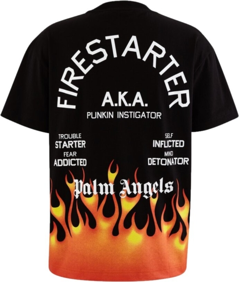 Palm Angels Firestarter Black T Shirt