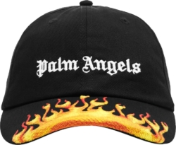 Palm Angels Flame Embroidered Hat