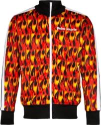 Flame Print Track Jacket