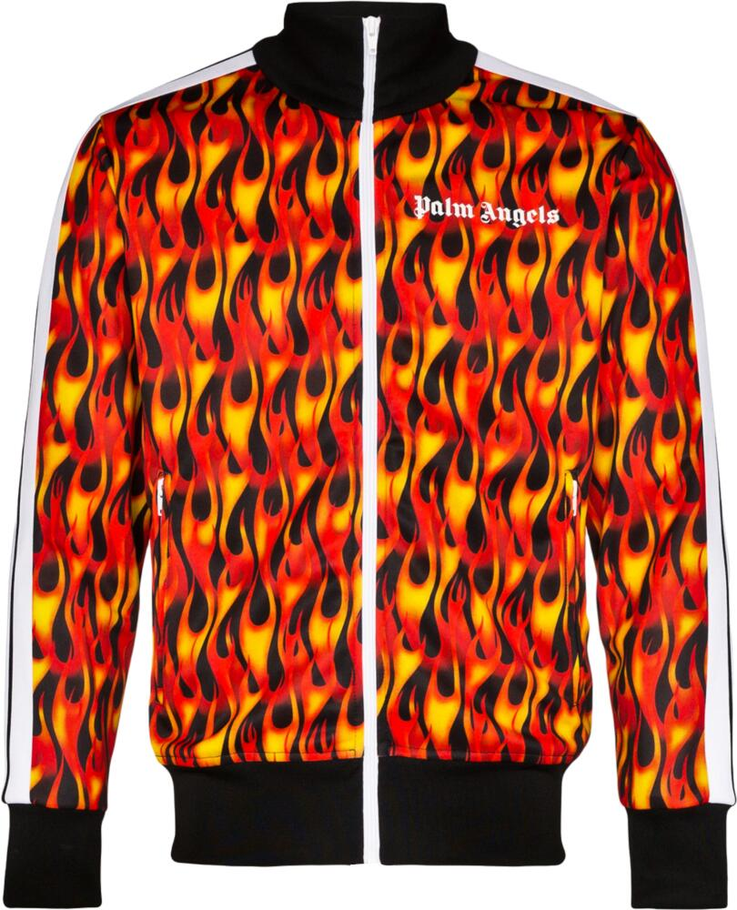 Palm Angels Flame Print Track Jacket
