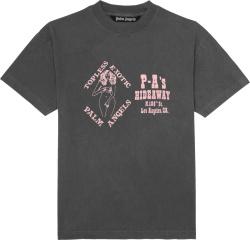 Palm Angels Grey Pink Exotic Club Tee