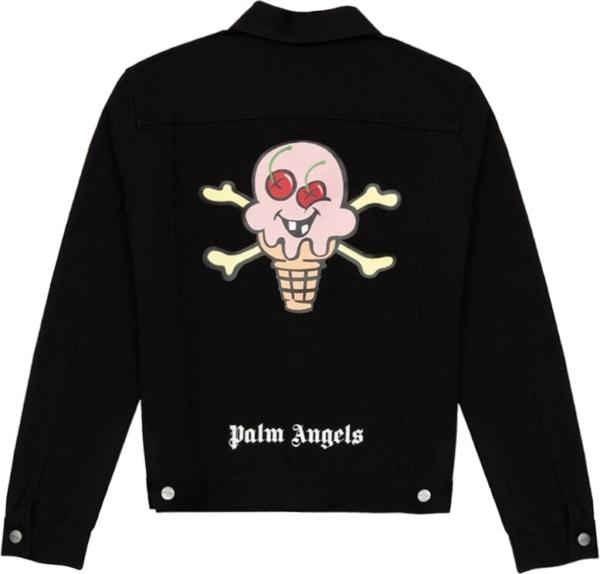Palm Angels Ice Cream Cone Black Jacket