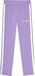 Palm Angels Lavender And White Stripe Trackpants