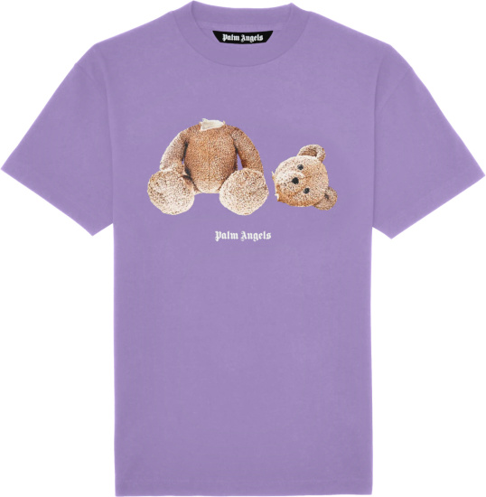 Palm Angels Lavender Headless Teddy Bear T Shirt