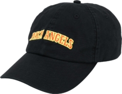 Red & Yellow Logo Embroidered Black Hat
