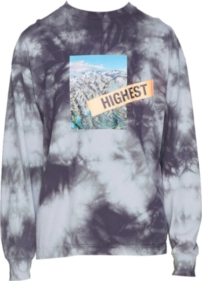 Palm Angels Mountain Print Tie Dye Long Sleeve Shrit