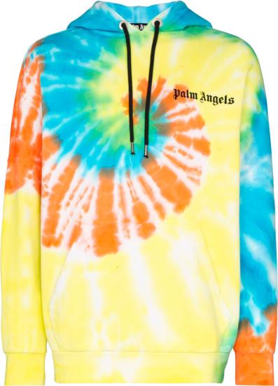 Palm Angels Multicolor Tie Dye Hoodie