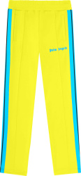 Palm Angels Neon Yellow And Neon Blue Side Stripe Track Pants