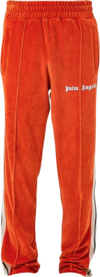 Palm Angels Orange Chenille Trackpants