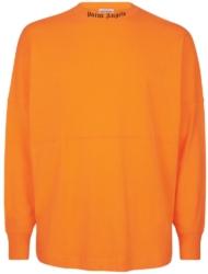 Palm Angels Orange Mock Crewneck Shirt
