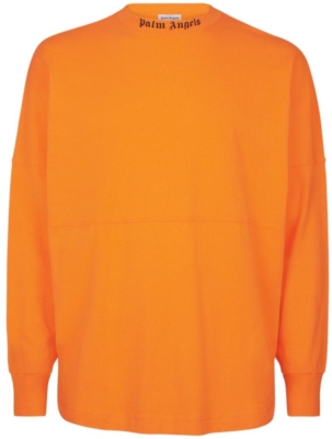Palm Angels Orange Mock Crewneck Shirt