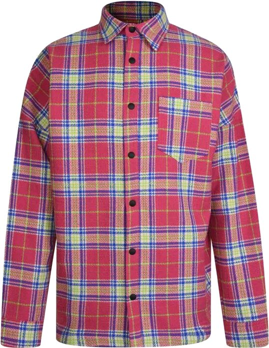 Palm Angels Pink Check Shirt