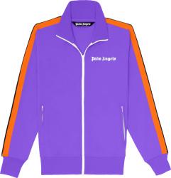 Palm Angels Purple And Orange Stripe Track Jacket