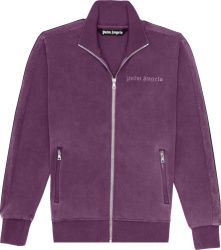 Palm Angels Purple Garment Dyed Track Jacket