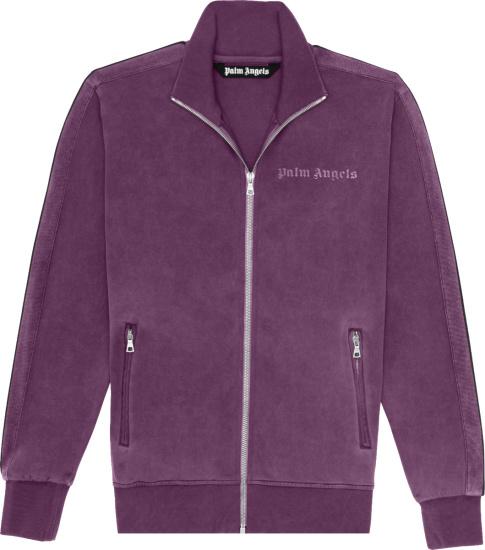 Palm Angels Purple Garment Dyed Track Jacket