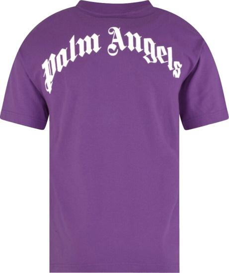 Palm Angels Purple Kill The Bear Print T Shirt
