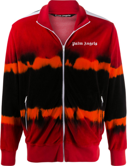 Palm Angels Red And Orange Chenielle Track Jacket