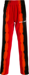 Palm Angels Red And Orange Chenielle Track Pants