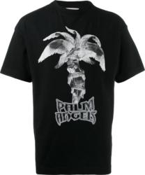 Palm Angels Statue Print Black T Shirt