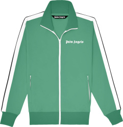 Palm Angels Treen And White Stripe Track Jacket