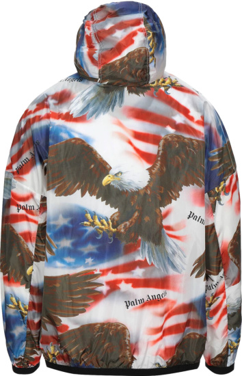 Palm Angels Usa Flag Bald Eagle Print Jacket