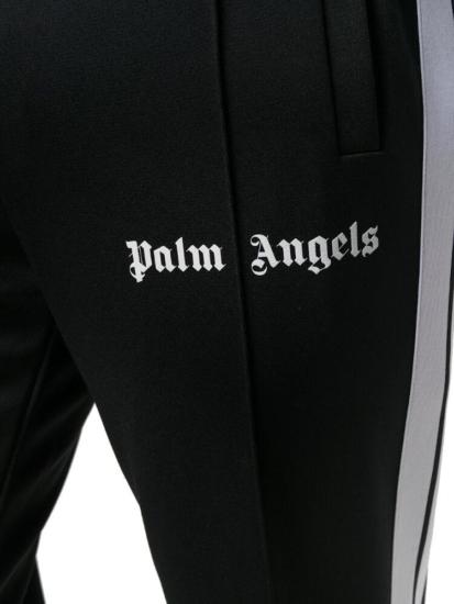 Palm Angels White Side Stripe Black Trackpants