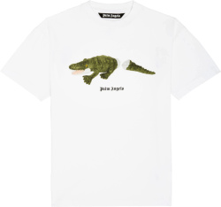 Palm Angels White Stuffed Crocodile T Shirt