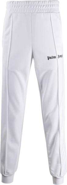 Palm Angels White Track Pants