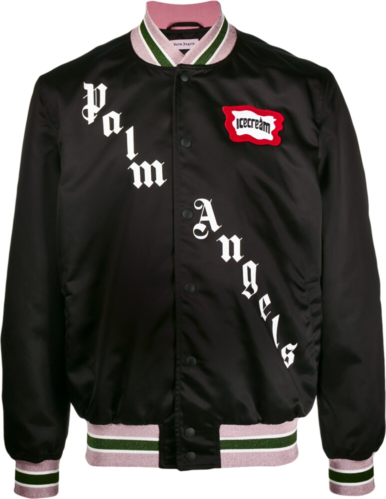 Palm Angels X Ice Cream Black Bomber Jacket