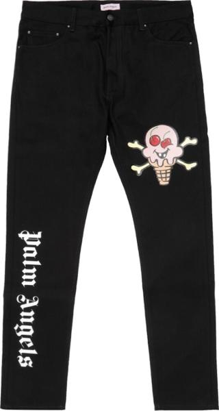 Palm Angels X Ice Cream Black Jeans