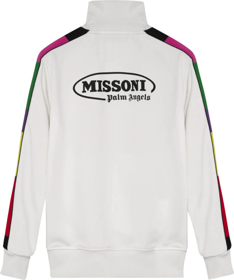 Palm Angels X Missoni Multi Colored Side Striped Track Jacket