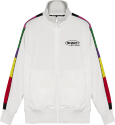 Palm Angels X Missoni White And Multicolor Side Striped Track Jacket