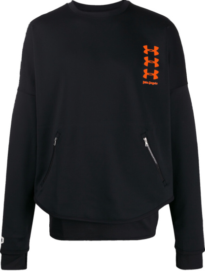 Palm Angels X Under Armour Black Sweatshirt